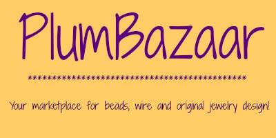 Plum Bazaar Beads, Rocks, & Jewelry Shop Logo
