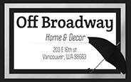 Off Broadway Home & Decor Logo