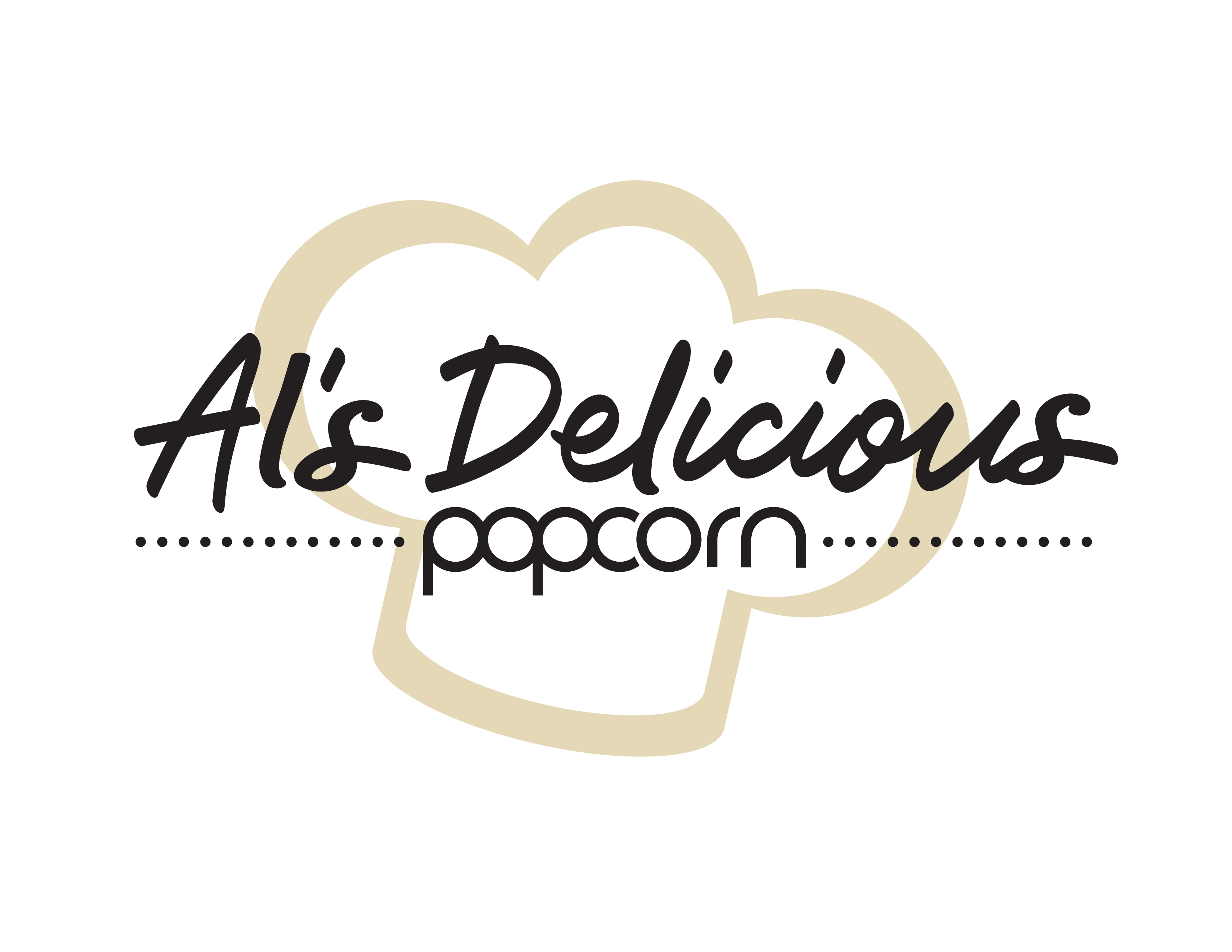 Al's Delicious Popcorn Logo