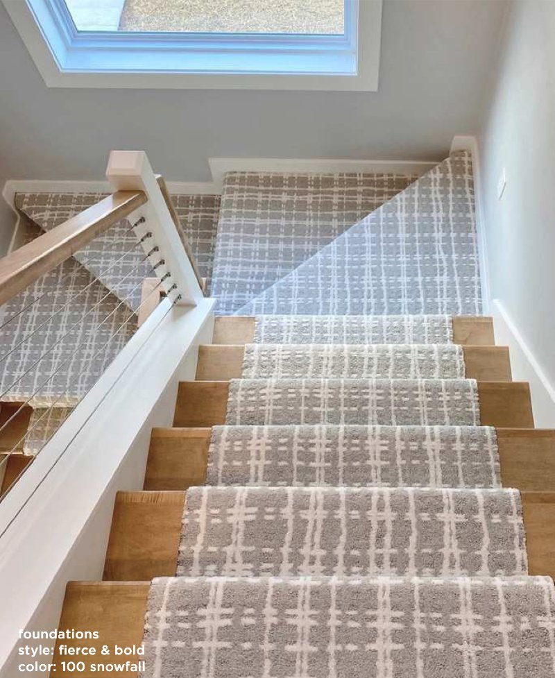 image of carpet on a stairway