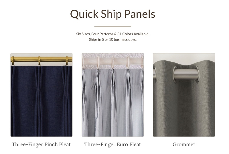 quick ship panels image