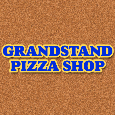 Grandstand Pizza Shop Logo