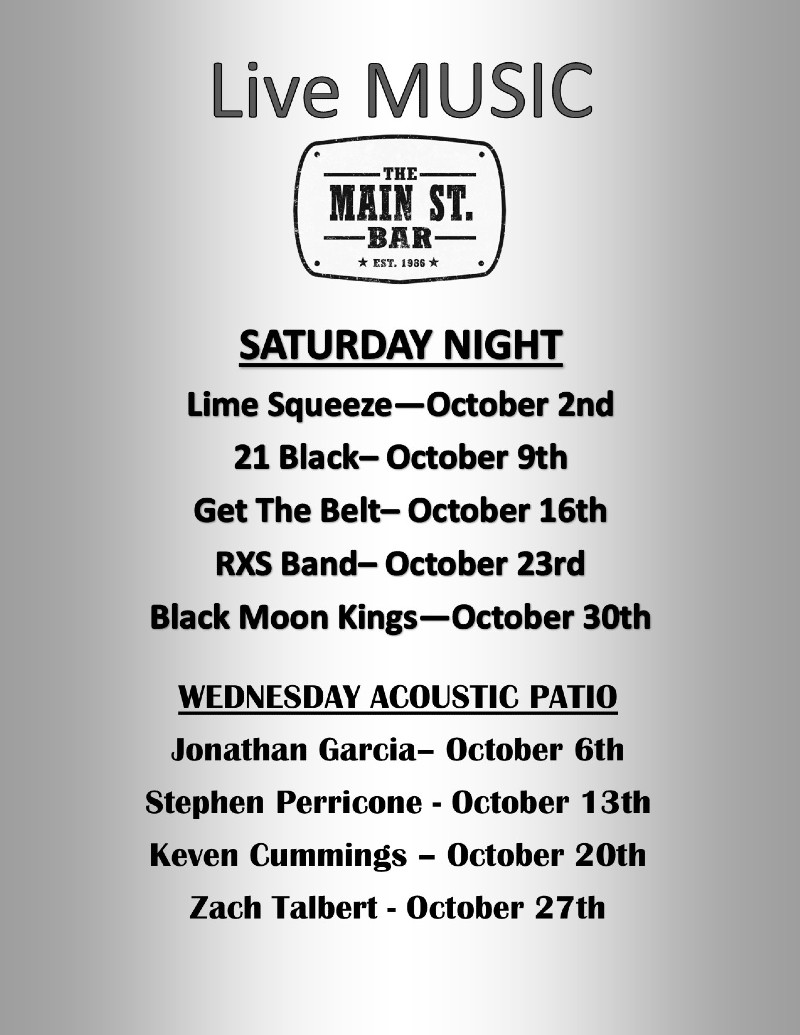 October 2021 Live Music