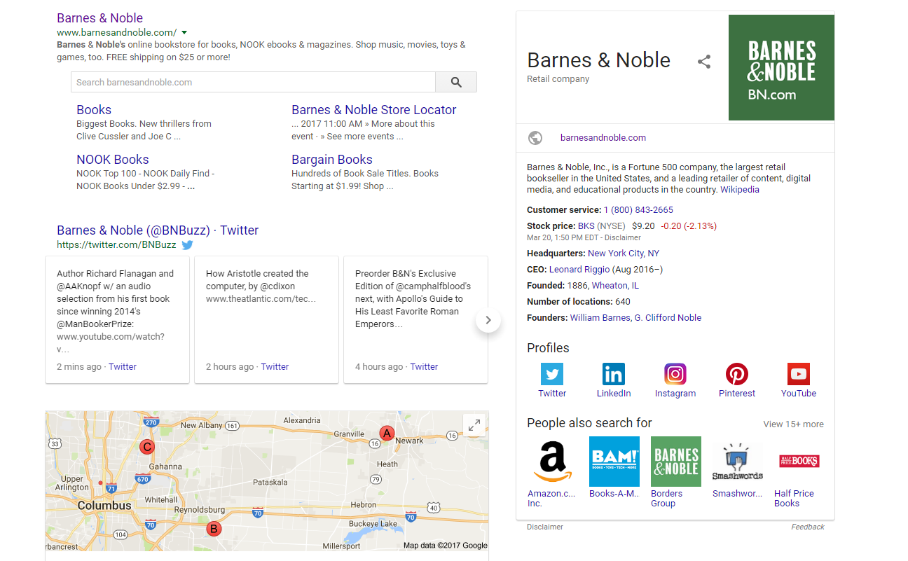 Barnes and Noble Search Results