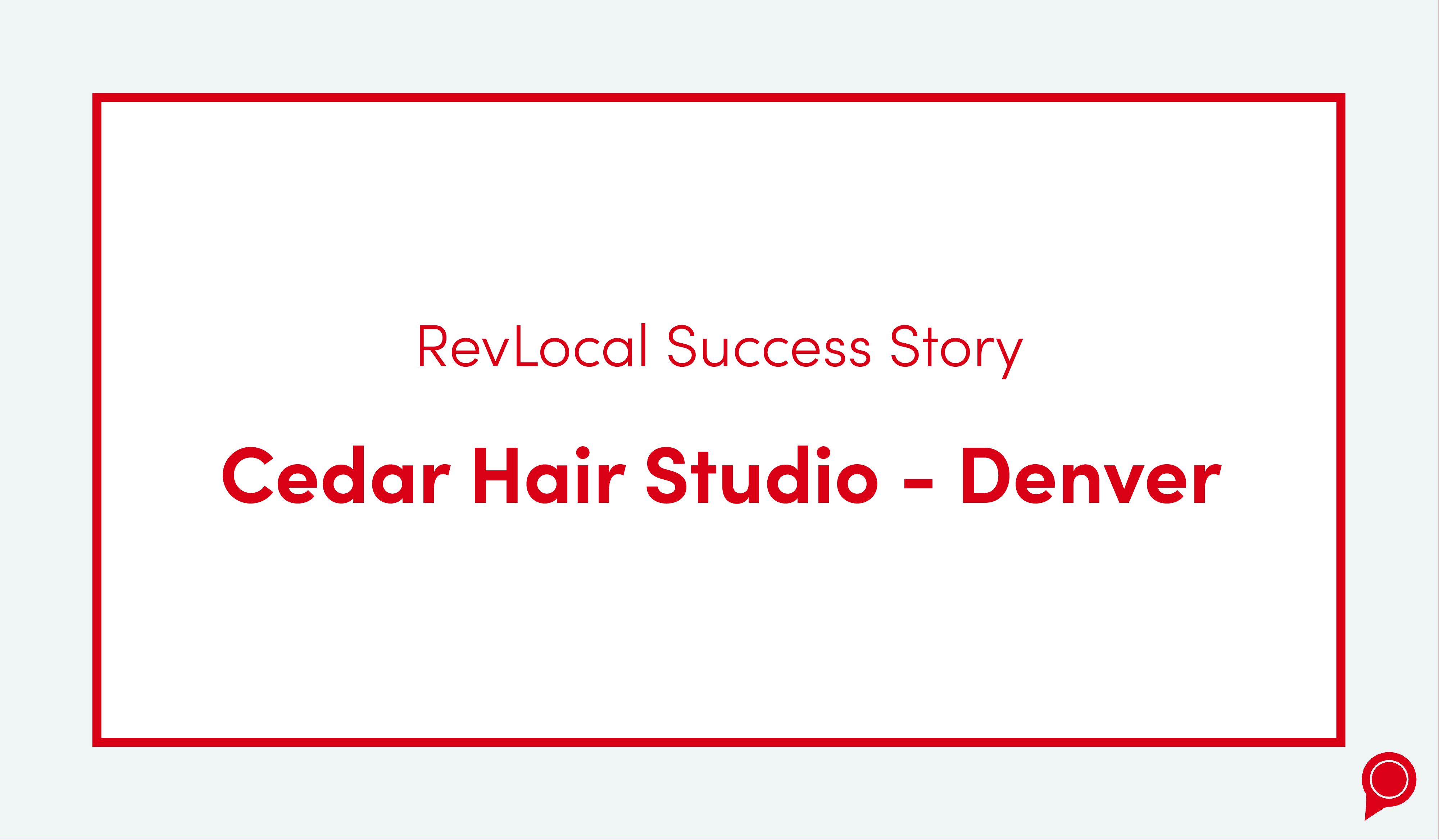 Cedar Hair Studio Success Story