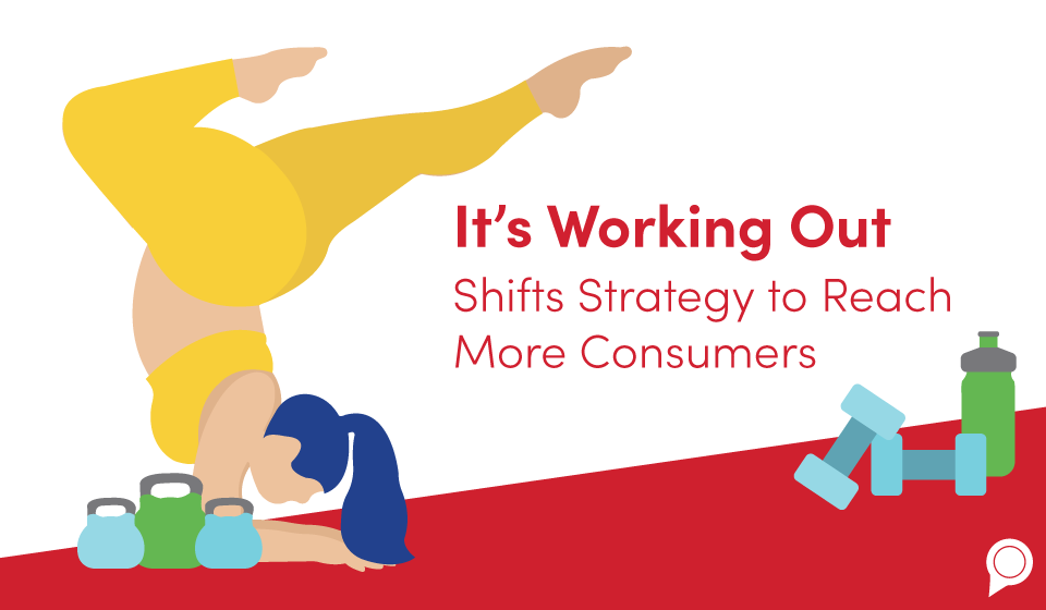 It's Working Out Shifts Strategy to Reach More Consumers