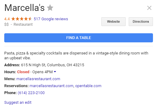 Google Allowing OpenTable Reservations Directly In Your Restaurant - Google open table